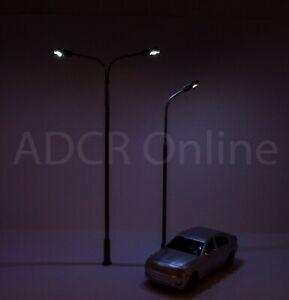 OO Gauge Working Street Lights / Yard Lights - 6/12 Pack - Single or Double LED