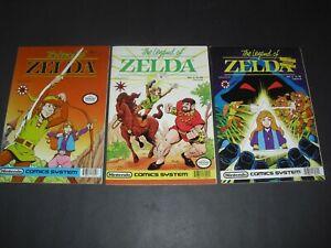 Legend of Zelda 1 2 & 3 all around VF/NM! Valiant run Nintendo 1990 2286