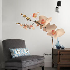 Large Creamy Orchid Flower Tree Wall Stickers Art Decal Mural Wallpaper Office