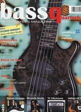 Bass Quaterly # 2010 5 -SANDBERG CUSTOM SUPREME- Studio insight, John Illsley...