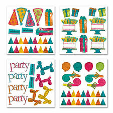 PIECE OF CAKE Rub Ons SWATCH PACK scrapbooking BIRTHDAY Party