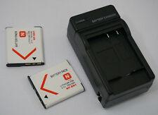 2x Batería + Cargador Para Sony Cyber-Shot DSC-W380 W310 W520 W580 NP-BN1 NPBN1