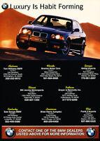 1999 BMW M3 Coupe - Habit -  Classic Vintage Advertisement Ad D13