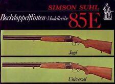 Simson Suhl (Merkel) 1985 Gun Catalog