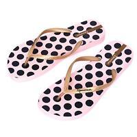 Ipanema Women flip flops Rubber Sandals thong Brazil Beach Pink Gold Black Dots