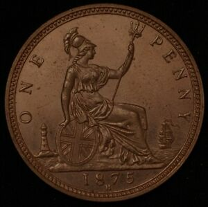 Great Britain Penny 1875 KM# 755