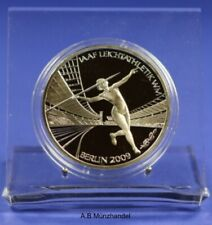 Deutschland 2009 10 Euro Gedenkmünze Silber F Leichtathletik-WM Spiegelglanz PP