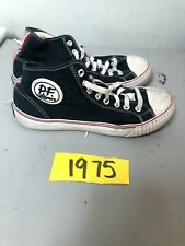 PF Flyers MC2001NV Men's 6.5 W 8 M Navy Blue Canvas High Top Sneakers Shoes