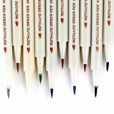 10pcs Assorted Metallic Paint Marker Pen Markers Set of 10 Colors-DIY Brush Tip