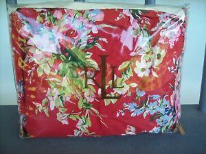 Ralph Lauren ~ Belle Harbor Floral QUEEN Bed Skirt 18 in White Red Ruffled ~ NEW