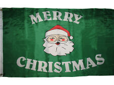 3x5 Merry Christmas Santa Claus Face Premium Flag 3'x5' House Banner Grommets