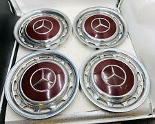 4x Mercedes Benz 14 Zoll Satz Radkappen W123 W109 W111 W113 501 Orientrot Rot