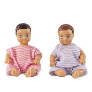 Dolls House Lundby Modern People 2 Babies Dolls