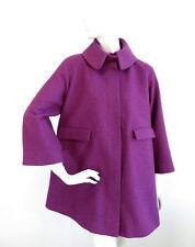 COS Womens A-Line Coat Wool/Alpaca Mix Fuschia Purple size 42 /RRP 175GBP