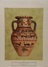Red - Figured Crater Early Century Terracotta Vase Vintage Lithograph Art Print