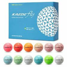 Kaede Fly Golf Ball12 Color Set 1 Dozen (12 Pieces) Stylish Golf ball Japan