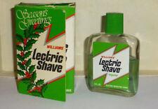 Williams Lectric Shave Pre Shave Lotion 3 oz Splash  1/2 Full Original Box