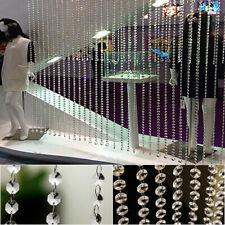US Crystal Beads String Curtain Bead Wall Panel Fringe Divider Door Window Decor