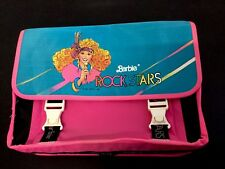 1987#VINTAGE MATTEL BARBIE ROCKSTARS ROCK STARS SCHOOL BAG PINK  CARTELLA#NEW