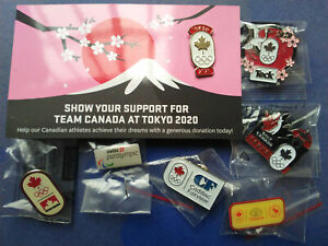 2020 Tokyo Olympic Games Paralympic 7 Pin Lot COC Teck Japan Golf Canada Toyota