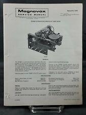 Magnavox Repair Service Parts Manual For 1975 701667 8 Track Record Play Tape