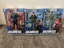 """Gi Joe 6"""" Classified Wave 4 Set Lady Jaye Flint Cobra Commander IN Stock"""
