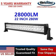 "NEW 22"" 280W CREE Spot Flood Comb LED Light Bar Offroad Pickup Truck ATV 4WD 24"""
