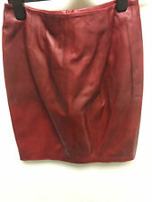 Muubaa Red Mulberry Leather Skirt. RRP £229. UK 8. M0669.