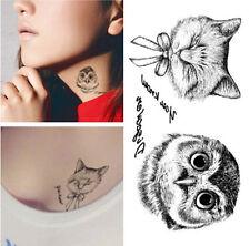 Unisex small Temporary Tattoo Waterproof Removable owl Stickers Body Art Tatoo