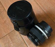 Nikon 24mm f/2 FAST Manual Focus AIS Prime Lens Very Clean Nice Tool w Caps CASE