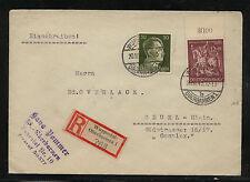 Gremany, Wuppertat-Oberbarmen registered cover 1943 Kl0101