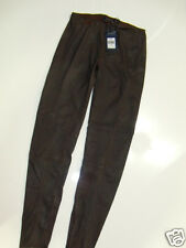 NWT $298 Womens Ralph Lauren Coated Faux Leather Distressed Leggings Pants 28