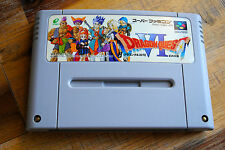 Jeu DRAGON QUEST VI 6 pour Nintendo Super FAMICOM (Jap)
