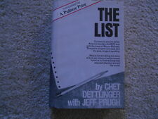 The List by Chett Dettlinger with Jeff Prugh. SIGNED FIRST EDITION