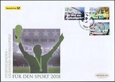 BRD 2018: Deutschland Fußball-Weltmeister! Post-Groß-FDC der Nr. 3380-3382! 1806