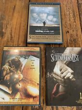 Dvd lot, includes Saving Private Ryan, Black Hawk Down and Schindler's List