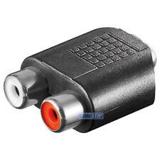 3.5 mm hembra (3-pin) a 2 RCA hembra estéreo (audio izquierda/derecha) Rojo Y Blanco