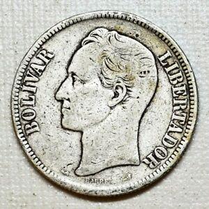 1905 Silver Coin Venezuela Libertador 5 Bolivares Fuerte (4)