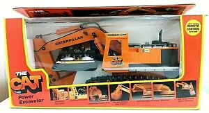 Vintage THE CAT Power Excavator Remote Control 2193 New Bright w/Box Caterpillar