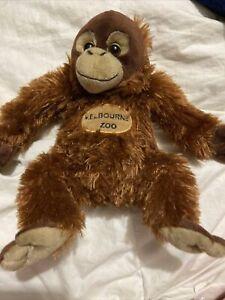 Melbourne Zoo Orangutan Soft Toy Free Post (acc342)