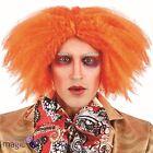 Jengibre Naranja Rizado SOMBRERERO LOCO fiesta peluca de Disfraz Día del libro