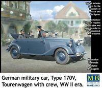 MAS35113 - Masterbox 1:35 SCALE - German Car Military Type 170V Tourenwagen KIT