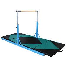 Height Options Adjustable Junior Gymnastics Training Horizontal Bar with Gym Mat