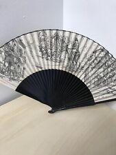 """Vintage Hand Fan 10.5"""" (ff)"""