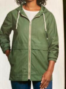 Weatherproof Vintage Size M, Clover Green, Women's Rain Slicker Jacket