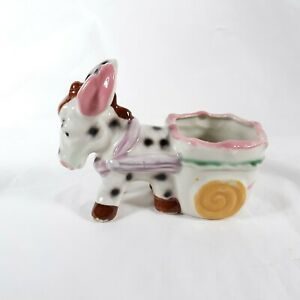 Spotted Donkey Planter Small Hand Painted In Japan Ceramic Vintage