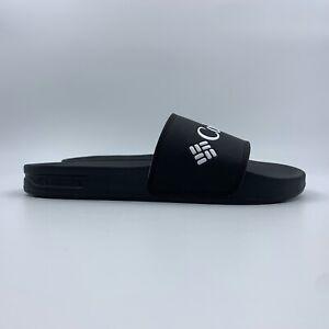 Columbia Mens Hood River Slide Sandals Size 10 Black Rubber Comfort Shower Shoes