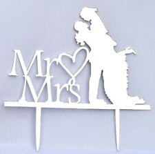 Wedding Cake Topper Mirrored Effect Acrylic Stencil Laser Cut Decoration Party