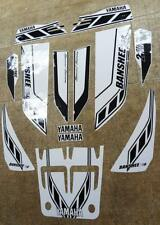 Yamaha banshee quad stickers graphics decal 13pc Special Edition Black/White ATV