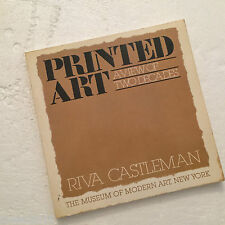 Printed Art : A View of Two Decades by Riva Castleman (1979, Paperback)